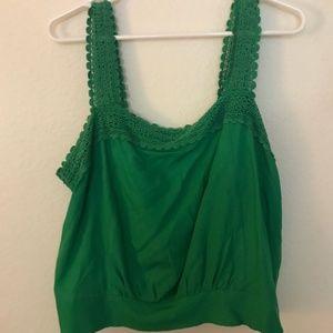 Modcloth Green Blouse